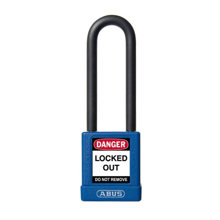Aluminium veiligheidshangslot met blauwe cover 74/40HB75 BLAU