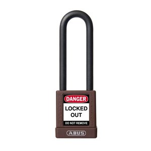 Abus Aluminum safety padlock with brown cover 74/40HB75 BRAUN