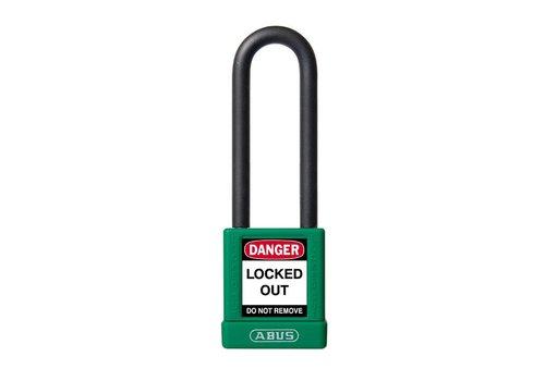 Aluminium veiligheidshangslot met groene cover 74/40HB75 groen