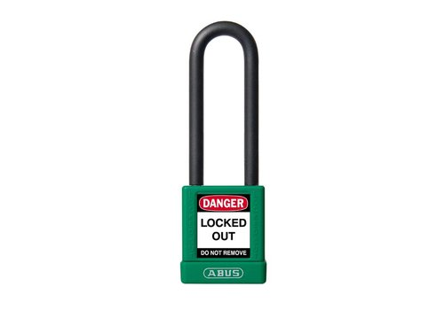 Aluminum safety padlock with green cover 74/40HB75 green