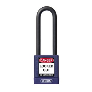 Abus Aluminum safety padlock with purple cover 58986