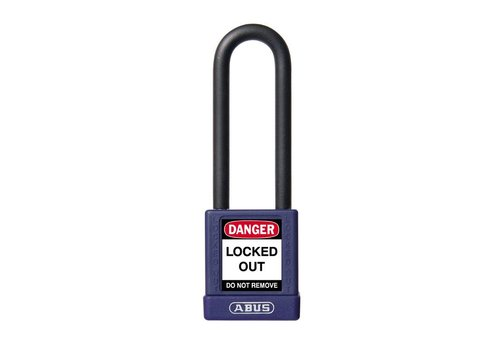 Aluminium veiligheidshangslot met paarse cover 74/40HB75 paars