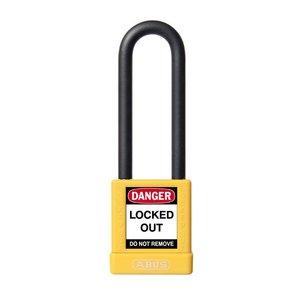 Abus Aluminium veiligheidshangslot met gele cover 74/40HB75 GELB
