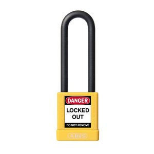 Abus Aluminum safety padlock with yellow cover 58031