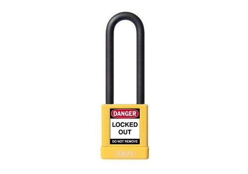 Aluminium veiligheidshangslot met gele cover 74/40HB75 geel