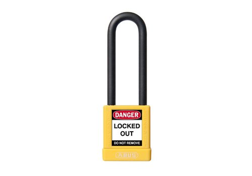 Aluminum safety padlock with yellow cover 74/40HB75 GELB