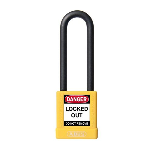 Aluminum safety padlock with yellow cover 74/40HB75 yellow
