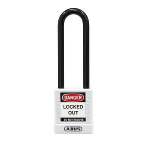 Abus Aluminum safety padlock with white cover 74/40HB75 WEIß
