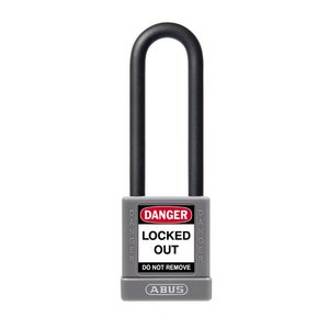Abus Aluminum safety padlock with grey cover 58988