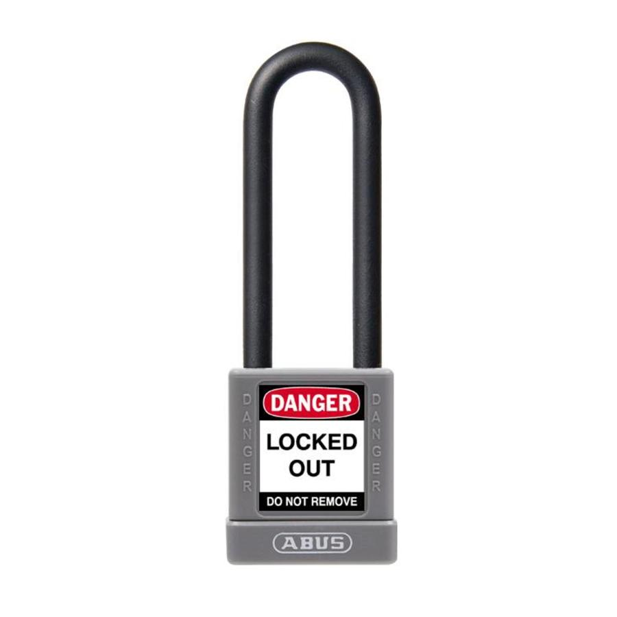 Aluminum safety padlock with grey cover 58988