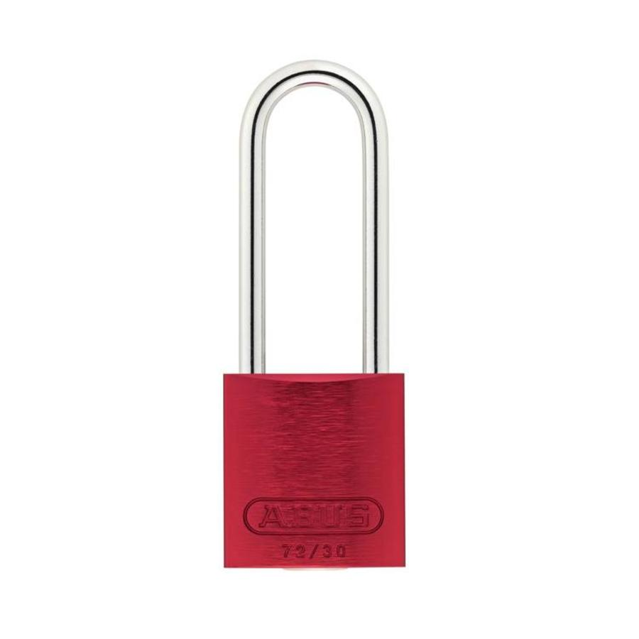 Anodized aluminium safety padlock red 72/30HB50 ROT