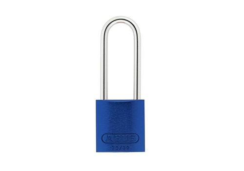 Anodized aluminium safety padlock blue 72/30HB50 BLAU