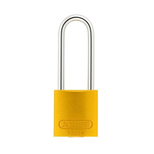 Geanodiseerd aluminium veiligheidshangslot geel 72/30HB50 GELB