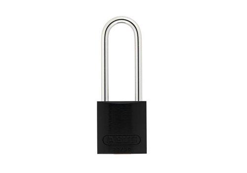 Anodized aluminium safety padlock black 72/30HB50 SCHWARZ