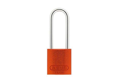 Geanodiseerd aluminium veiligheidshangslot oranje 72/30HB50 ORANGE