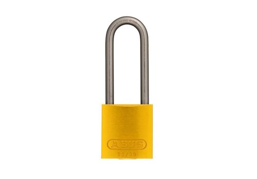 Anodized aluminium safety padlock yellow 72IB/30HB50 GELB