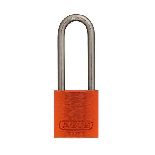 Geanodiseerd aluminium veiligheidshangslot oranje 72IB/30HB50 ORANGE