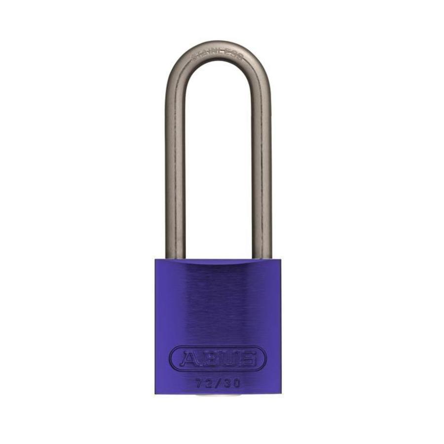 Sicherheitsvorhängeschloss aus eloxiertes Aluminium lila 72IB/30HB50 LILA