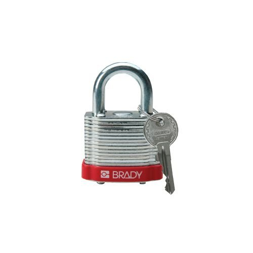 Laminated steel safety padlock red 814088