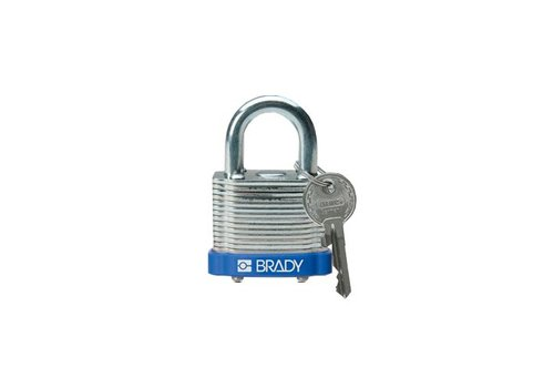 Gelamineerd stalen veiligheidshangslot blauw 814086