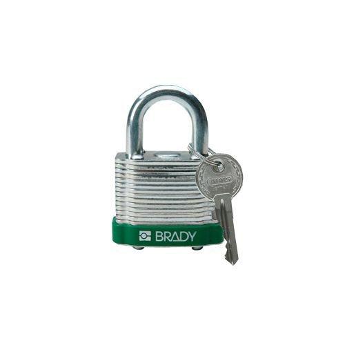 Gelamineerd stalen veiligheidshangslot groen 814090