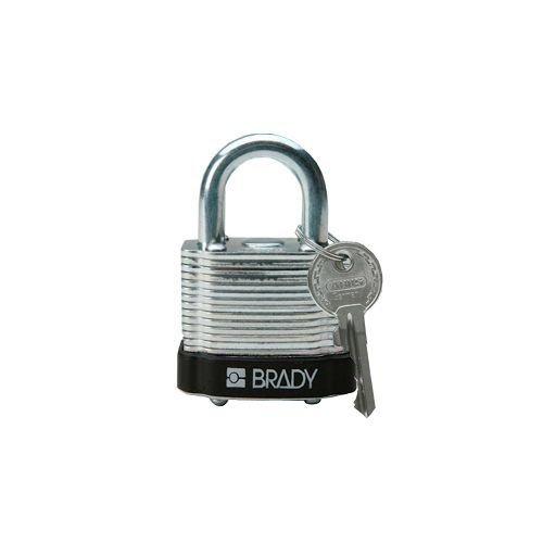 Laminated steel safety padlock black 8140087