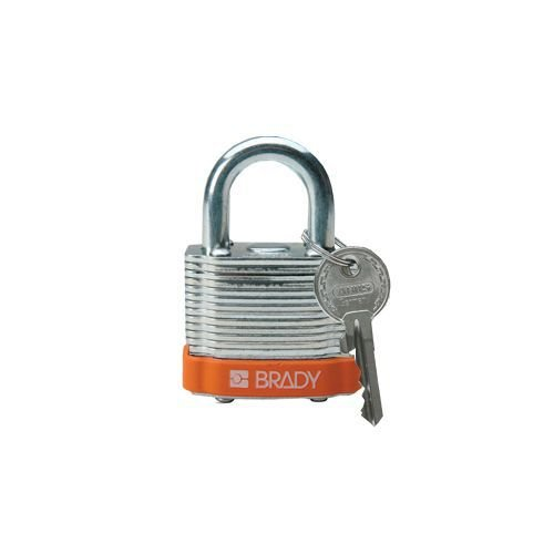 Laminated steel safety padlock orange 814091
