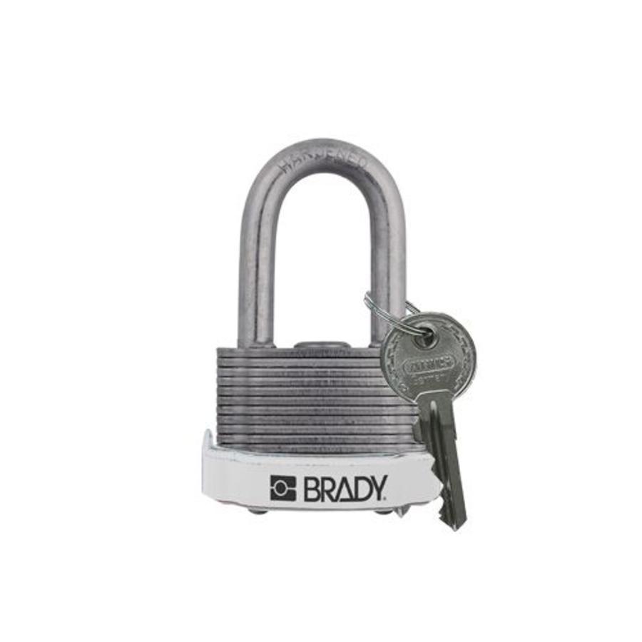 Sicherheits-vorhängeschloss Stahl weiß 814103