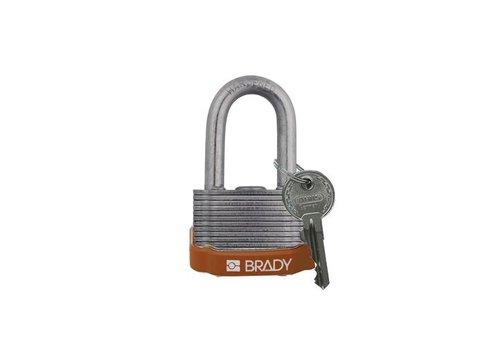 Sicherheits-vorhängeschloss Stahl braun 814101