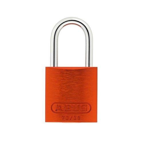 Geanodiseerd aluminium veiligheidshangslot oranje 72/30 ORANGE