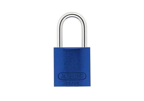 Geanodiseerd aluminium veiligheidshangslot blauw 72/30 BLAU