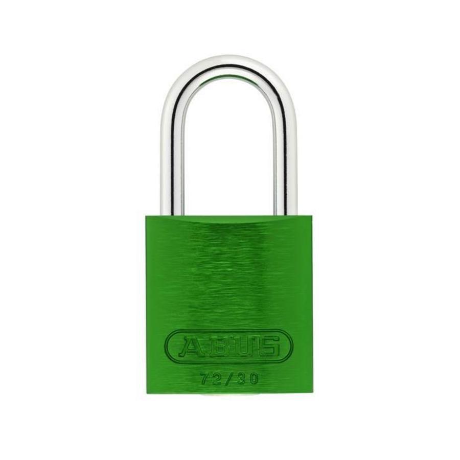 Geanodiseerd aluminium veiligheidshangslot groen 72/30 GRÜN