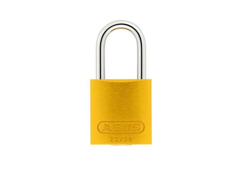 Anodized aluminium safety padlock yellow 72/30 GELB