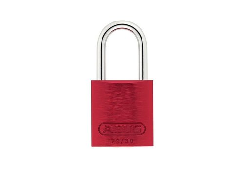 Anodized aluminium safety padlock red 72/30 ROT