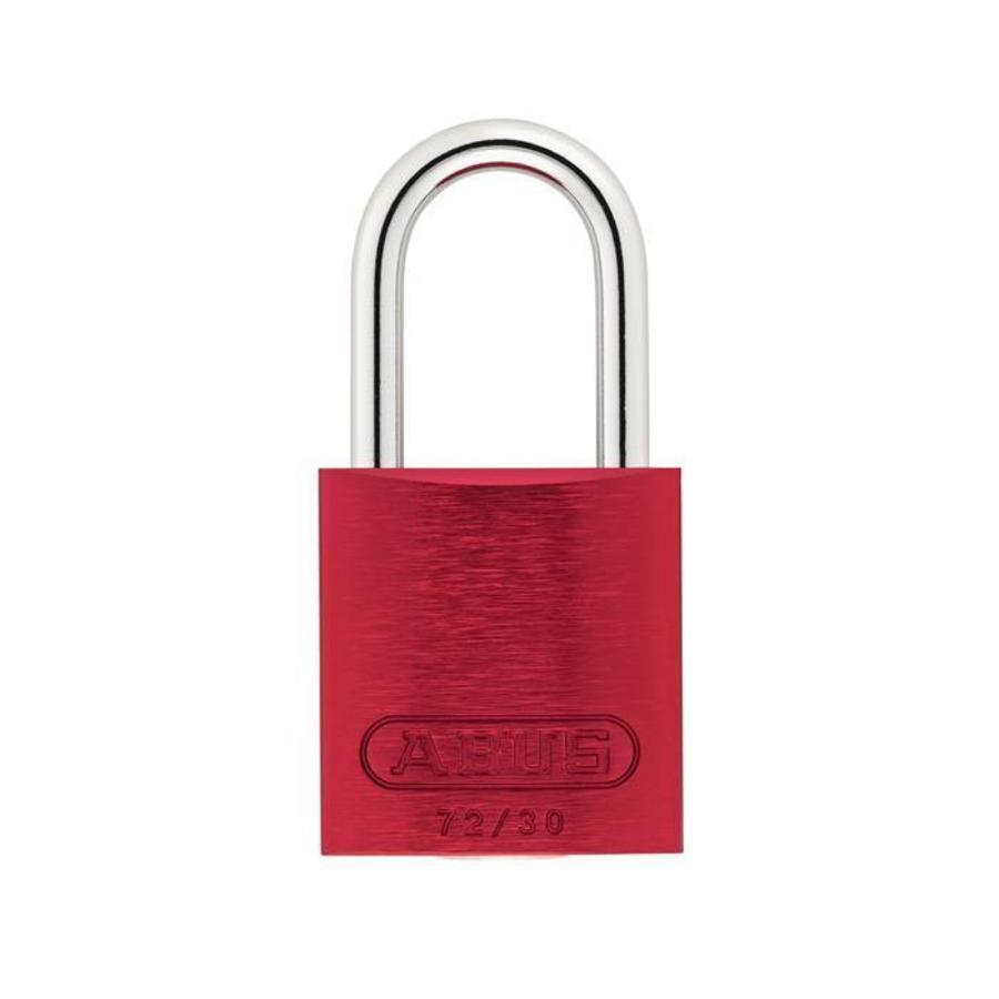 Sicherheitsvorhängeschloss aus eloxiertes Aluminium rot 72/30 ROT