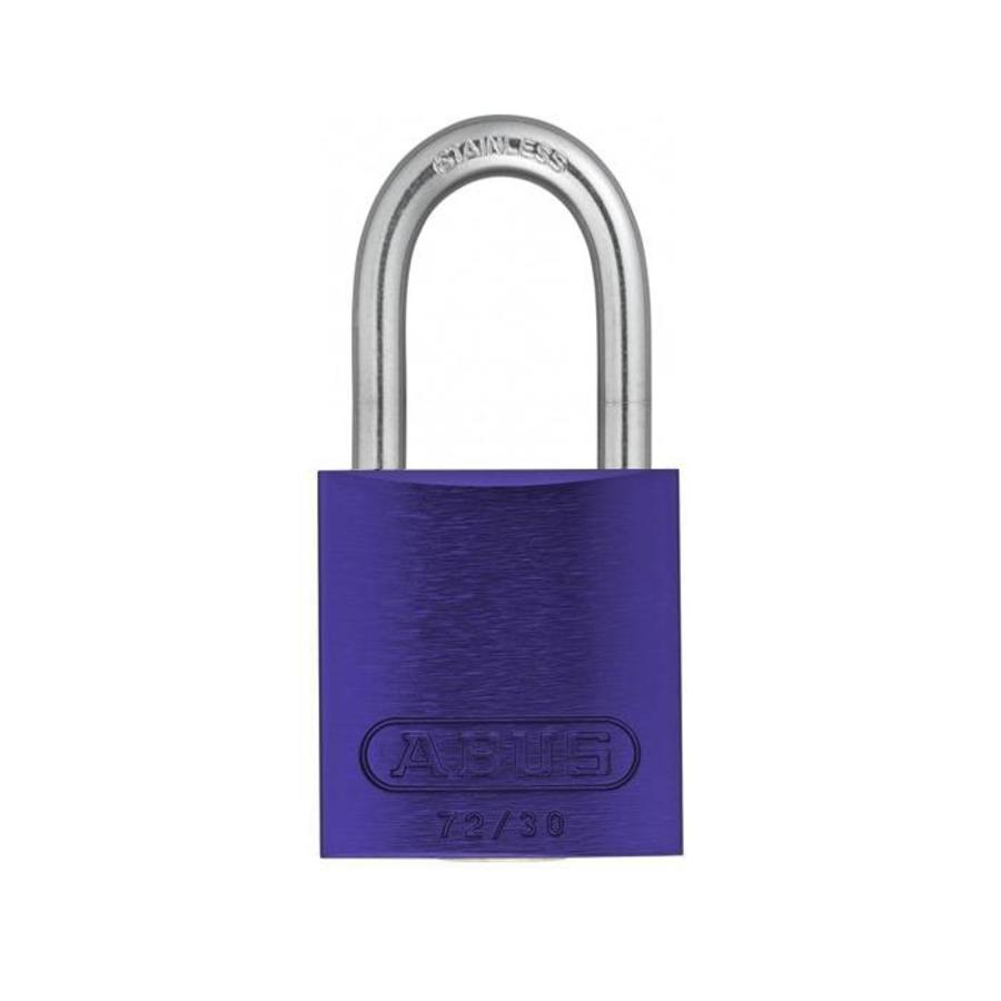 Sicherheitsvorhängeschloss aus eloxiertes Aluminium lila 72IB/30 LILA