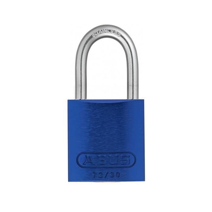 Sicherheitsvorhängeschloss aus eloxiertes Aluminium blau 72IB/30 BLAU
