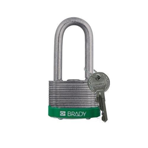 Laminated steel safety padlock green 814108
