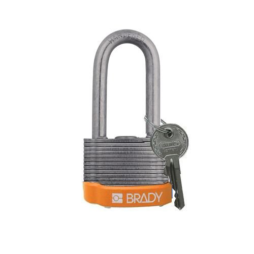 Laminated steel safety padlock orange 814109