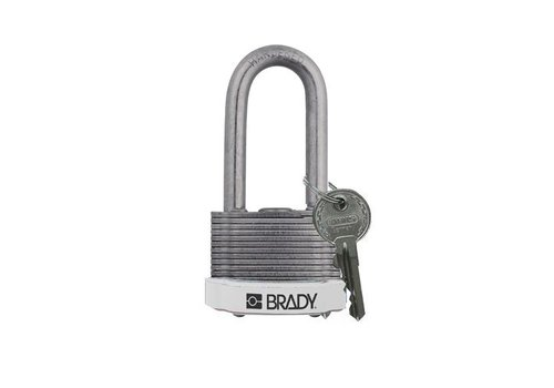 Laminated steel safety padlock white 814112