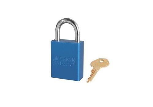 Geanodiseerd aluminium veiligheidshangslot blauw S1105BLU