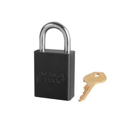 Anodized aluminium safety padlock black S1105BLK