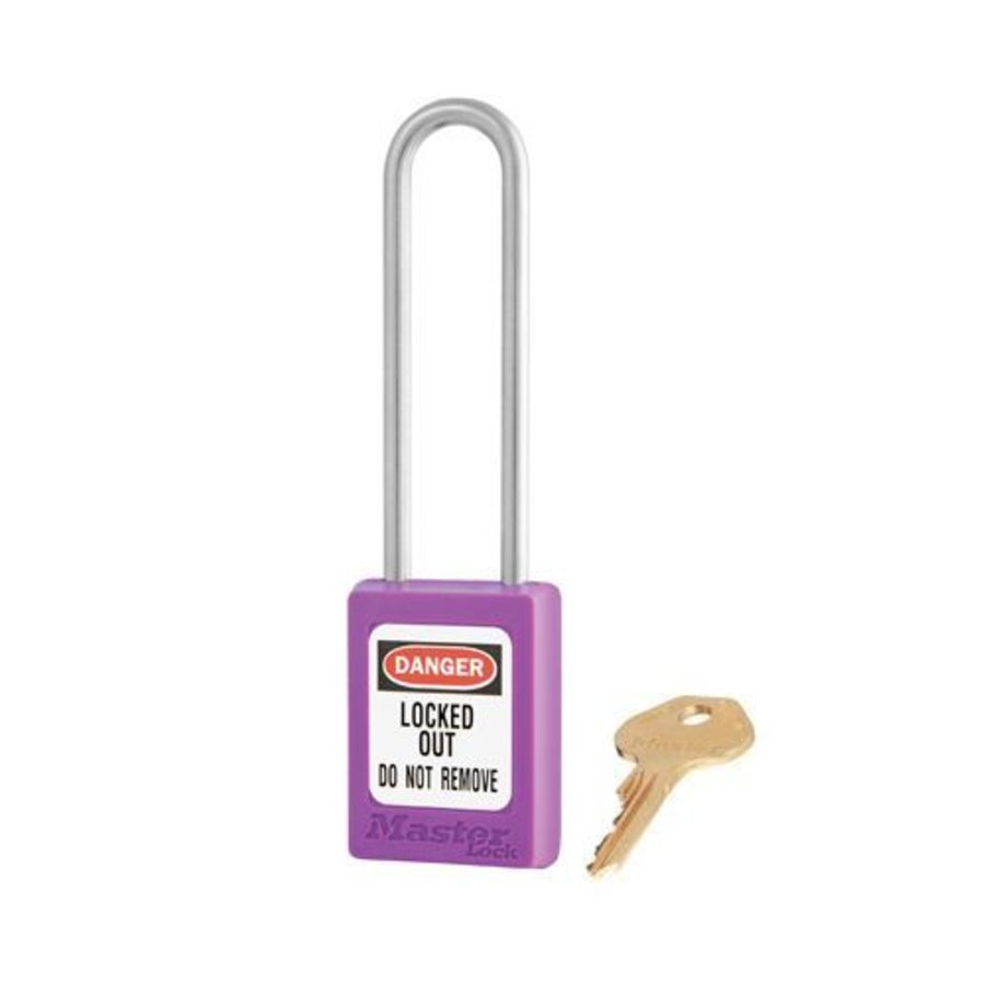 Zenex safety padlock purple S33LTPRP - S33LTKAPRP