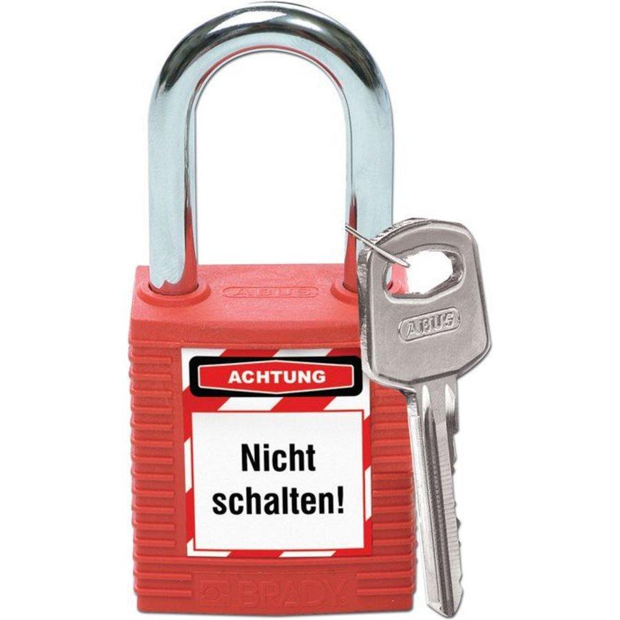Vorhängeschloss Etiketten für Brady Schlosser Blatt mit 15 stück