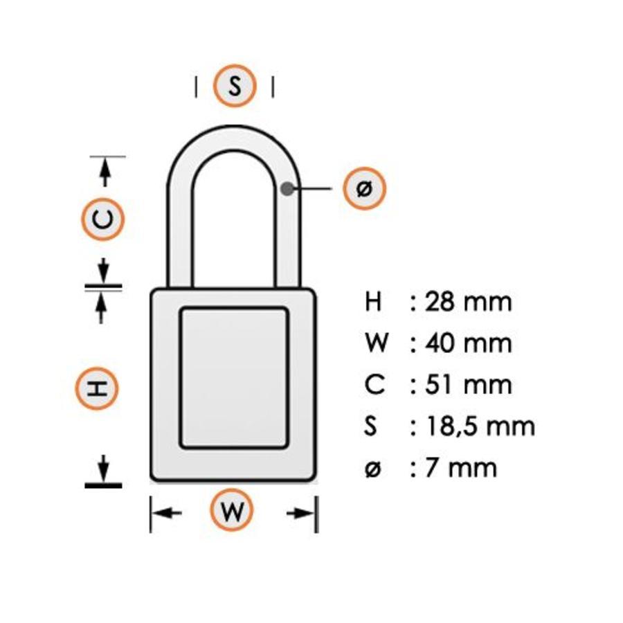 Gelamineerd stalen veiligheidshangslot paars 814111