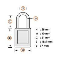 Sicherheits-vorhängeschloss Stahl blau 814104