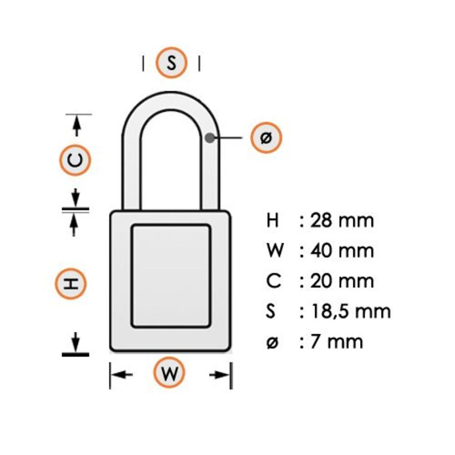 Sicherheits-vorhängeschloss Stahl blau 814086