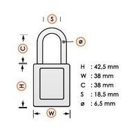 Nylon Sicherheits-vorhängeschloss braun 813639