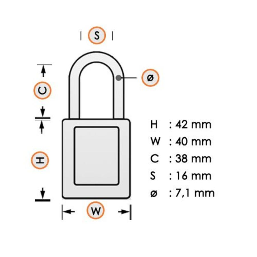 Laminated steel padlock black 3LFBLK
