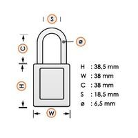 Nylon veiligheidshangslot grijs 814113